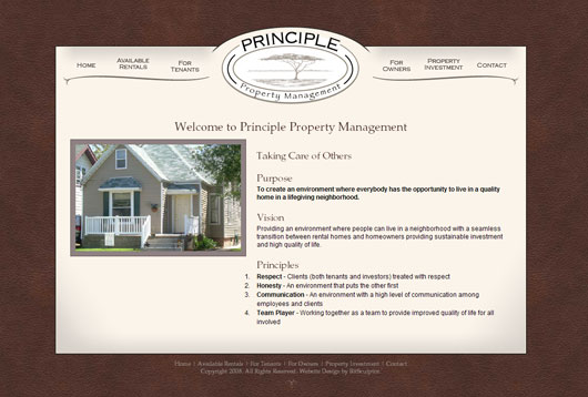 Principle Property Management Screenshot