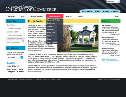 Lakeport Chamber Screenshot