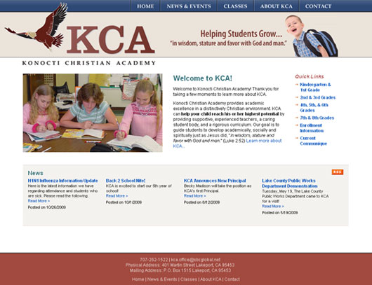 Konocti Christian Academy Screenshot